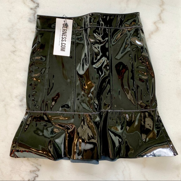 Patent Leather Skirt by BERNESS